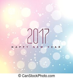 beautiful bokeh background for 2017 happy new year with soft...