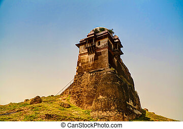 Tower of Rohtas fortress in Punjab Pakistan - tower of...