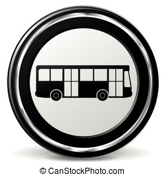 bus black and gray icon - Illustration of bus black and gray...