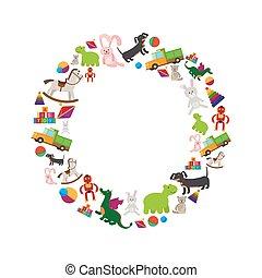 Children toys round frame