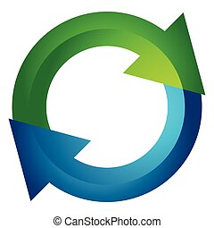 Circular arrow, circle arrow icon. Rotation, restart, twist,...