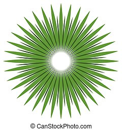 Abstract shape with circular lines for nature concepts....