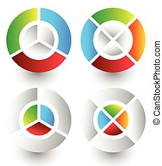 Pie chart, pie graph icons. Analytics, diagnostics,...