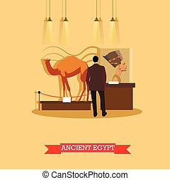 Vector illustration of ancient Egypt exposition in...