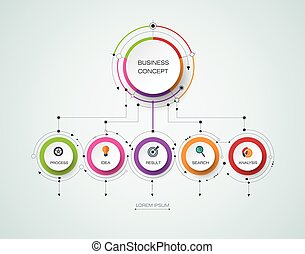 Vector infographic template. Business concept with options