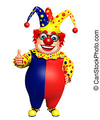 Clown with thumbs up sign