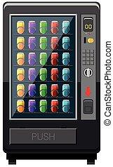 Vending machine fulled of soft drink illustration