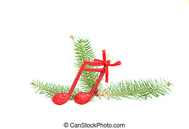 cristmas music notes decoration on a tree branch - picture...