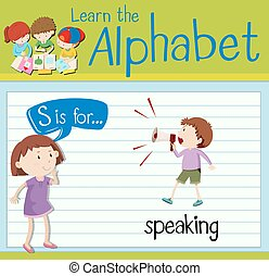 Flashcard letter S is for speaking