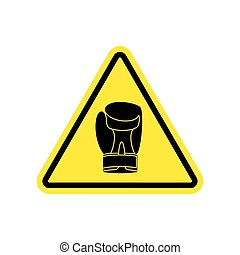 Warning sign boxung. Symbol Hazard attention of dangerous...