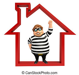 Thief with Home sign