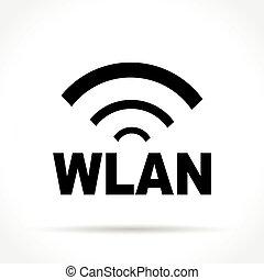 wlan icon on white background - Illustration of wlan icon on...