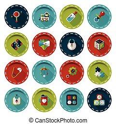 Baby icons set,eps10