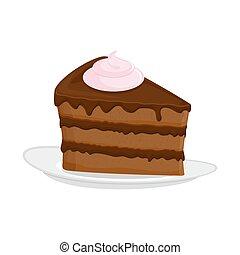 biscoito, Confectionery, prato, fundo, isolado, sobremesa,...