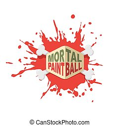 Paintball logo. Emblem for military extreme sports game.