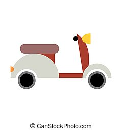Scooter isolated. Transport icon on white background