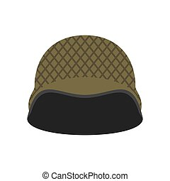 Military helmet isolated. Soldier protective hard hat on white background