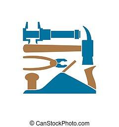 Repair logo. Repairs Tool emblem. Instrument sign....