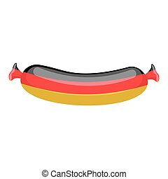 German sausage isolated. traditional Meat delicacy from...