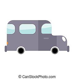 Car gray isolated. Transport on white background. Auto in...