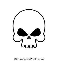 Skull isolated. skeleton head on white background. death...