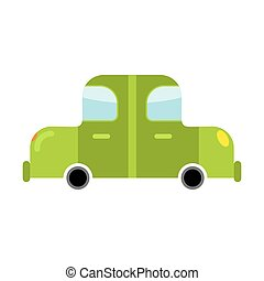 Car green isolated. Transport on white background. Auto in...