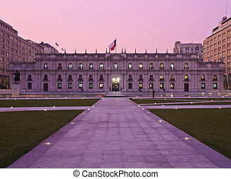 Palacio de La Moneda in Santiago de Chile - Chile, Santiago,...