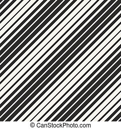 Vector Seamless Black and White Parallel Diagonal Stripes Pattern