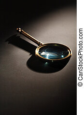 Magnifying Glass On Dark