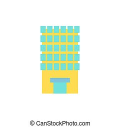 Building, house and architecture object. Business Property....