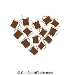 Coffee Mug heart. I love caffeine. I like to drink tea