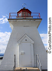 Lighthouse at Cape Enrage in New Brunswick, Canada