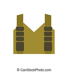 Bulletproof vest isolated. Protective uniform military....