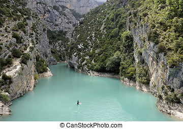 Gorge of Verdon in the departement du Var in France