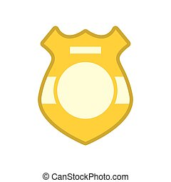Police badge isolated. Sign of policeman officer on white...