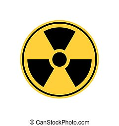 Radiation Danger sign. Caution chemical hazards. Warning...