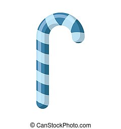Christmas Mint candy blue isolated. lollipop Peppermint...