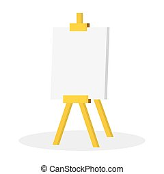 Illustration Wooden easel with blank space, isolated on a...