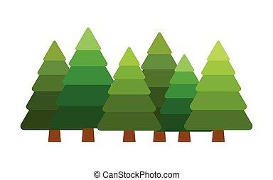 Set of Christmas trees - christmas vector tree fir,...