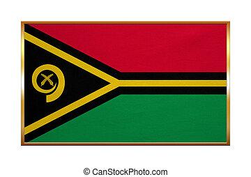 dorato, tessuto, cornice, struttura, bandiera,  Vanuatu