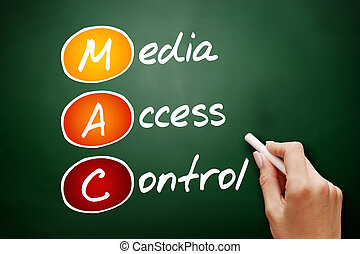 Hand drawn MAC Media Access Control, technology business...