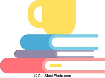 Stack of books vector illustration.