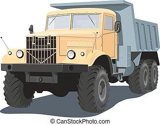 Dump truck - Vector isolated dump truck on white background