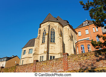 Ancient castle in Linz am Rhein Germany - Ancient castle in...