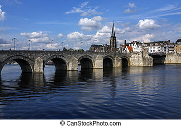 Maastricht - Netherlands - View of Maastricht city centre...