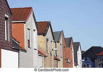 Wohnhäuser, Reihenhäuser, Doppelhaushälften