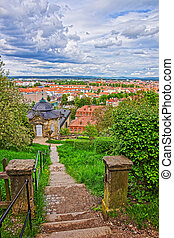 Bamberg city center Upper Franconia in Germany - Bamberg...