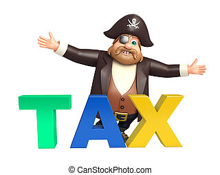 Pirate with Tax sign