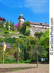 New Castle and its Terrace in Baden Baden Germany - New...