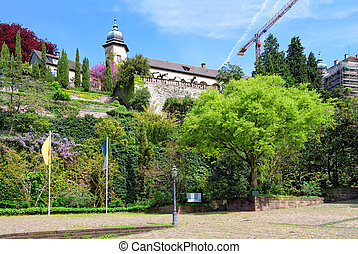 New Castle and its Terrace in Baden Baden - New Castle and...